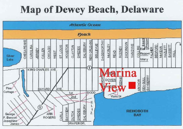31673_22134map1 108 Marina View | Dewey Beach,  Real Estate For Sale | MLS#   - Rehoboth Bay Realty